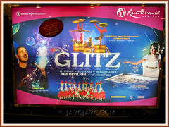 Poster on GLITZ, a show by international artistes, at Resorts World Genting