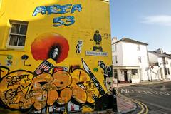Street Art (dprezat) Tags: street england urban stencils art brighton tag graf peinture bombe pochoir northlanes aérosol sonyalpha700