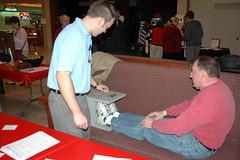 Mayor Dee Smith flexibility test 2011
