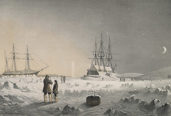 """""""H.M.S Assistance & Pioneer in the Winter quarters"""" (Toronto Public Library Special Collections) Tags: winter canada public sailing ships 1800s picture arctic historical northwestpassage library tpl torontopubliclibrary frozenocean toronto icebound special hmspioneer canadian collection collections hmsassistance"""