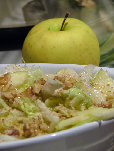 fennel, apple, nuts salad - insalata finocchi, mele e noci