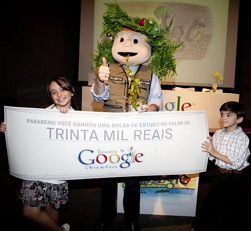 Homem Árvore Doodle 4 Google