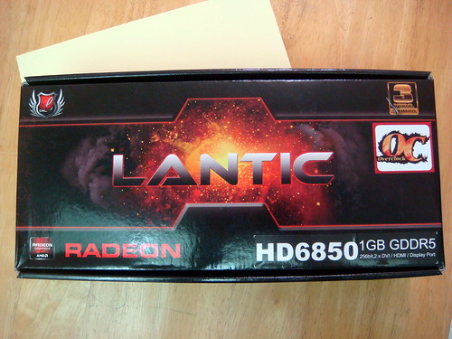 Lantic HD-6850 1GB-DDR5 顯卡