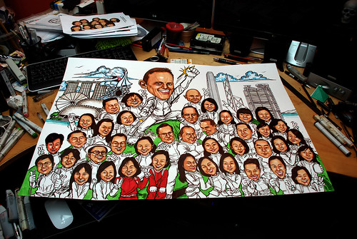 Group caricatures for UBS - 1