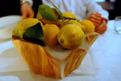 Pine Nut Pannacotta, Amalfi Lemon Sorbet