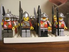 Logan's Lions (+DemonHunter+) Tags: castle soldier army foot lego sword knight shield spear minifigure