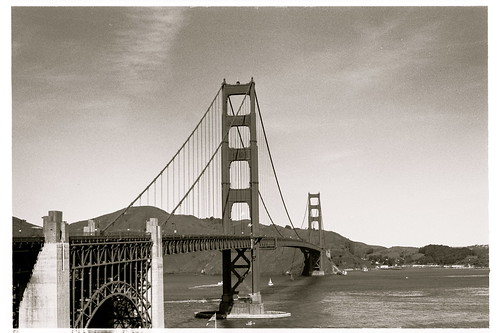 golden gate bridge black and white. Golden Gate Bridge in Black