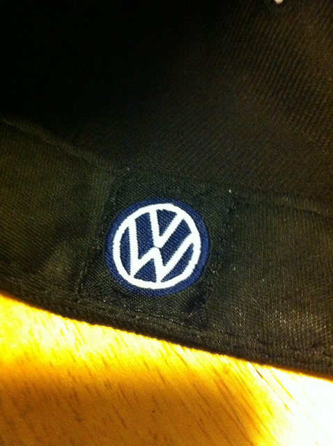 R32 hat inside logo