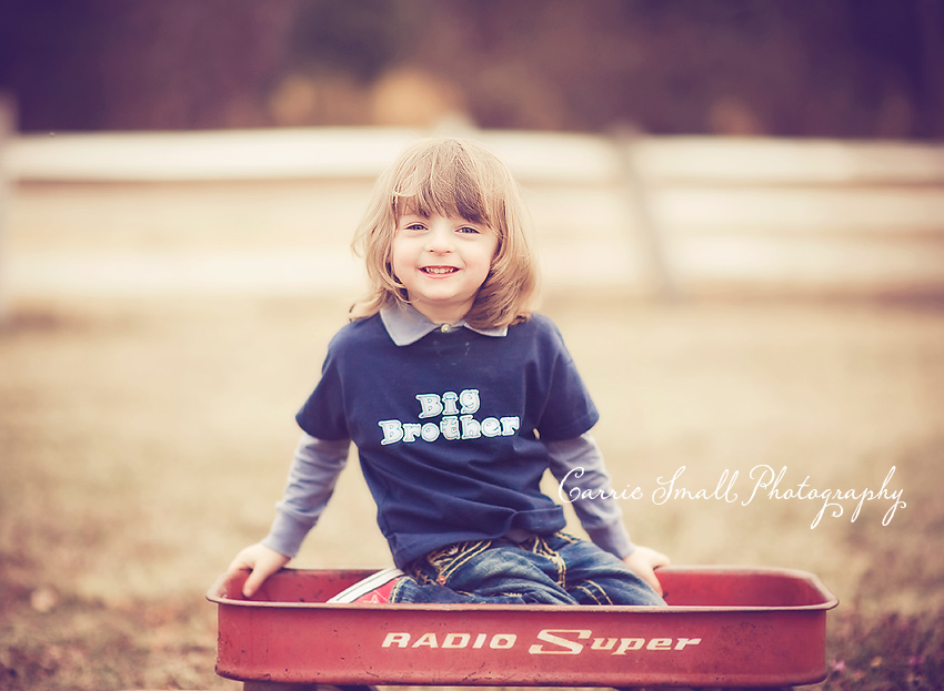 Guess who's going to be a big brother | Fayetteville NC Newborn Photographer