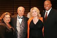 Lenny Wilkens with Craig Robinson and spouses