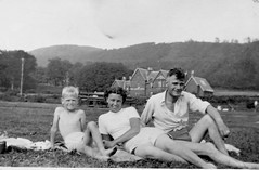 Image titled Roderick  McCreath, Jenny McCreath, Douglas Haig McCreath 1955