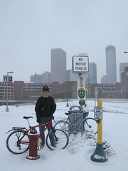 "Feb. 20 storm- 12"" (Low) Tags: snow bike bicycle skyline ross lotus snowstorm minneapolis february mn mixte nomotorvehicles 2011 winterbike studdedtire alabamans twinsstadium lotusspecial"