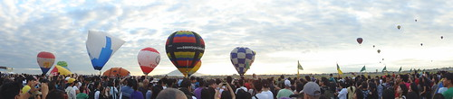 panoramic view of balloons