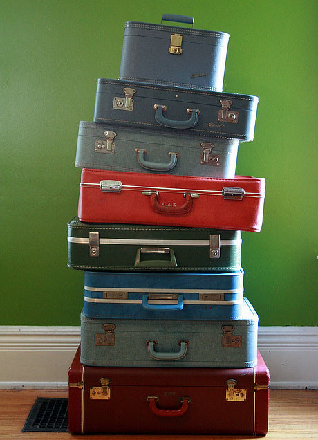flint knit's suitcases
