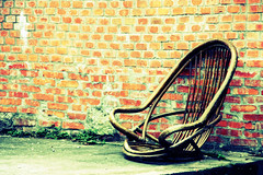 A broken lonely chair...