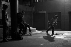 Skating, Some, Schools. (Niklas Weikert) Tags: school blackandwhite night canon sitting board skating running skaters smoking skateboard chillen allston 60d
