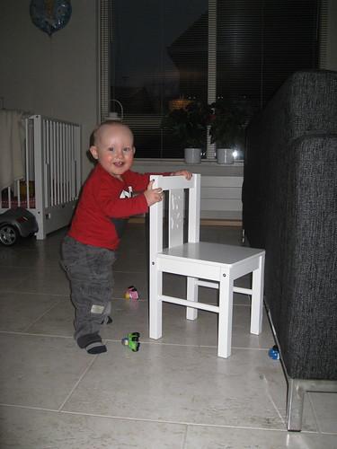Lopen met een stoel