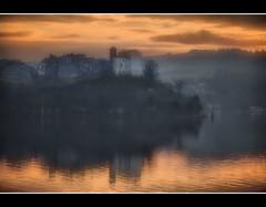 Winter sunset on Bracciano lake (Sante sea) Tags: sunset italy lake roma lago italia tramonto anguillara lazio bracciano