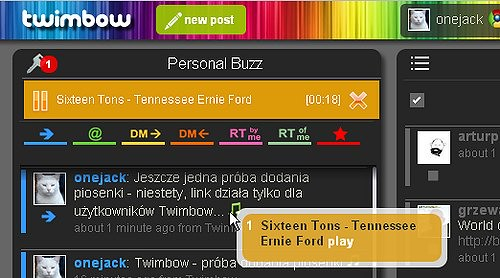 twimbow8 dodajemy piosenkę
