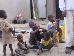 Seydou avec ses frères et soeurs.