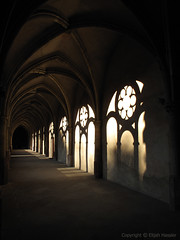 Cloisters of Trier (right2roam) Tags: light shadow silhouette germany deutschland arch cathedral dom gothic arches walkway cloister pathway trier المانيا