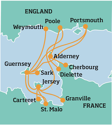 Ferries to the Channel Islands from England and France. Photo: Anita Razak