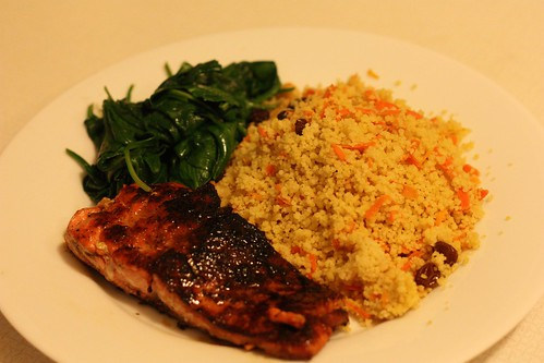 Salmon, Spinach, Couscous
