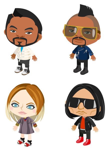 The Black Eyed Peas in Pigg