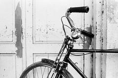 bike (khaniv13) Tags: life street film bicycle analog random scene nikonfe fujineopan1600 24mmf28 jawatengah selfdevelop pemalang khaniv13