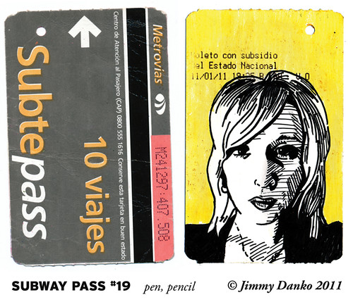 Back of Subway Pass #19