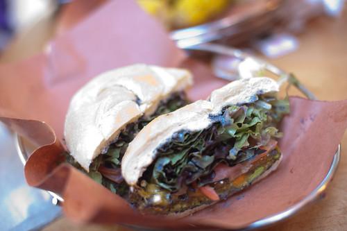 Vegetarian Burger with Cheese-Soho Park, New York