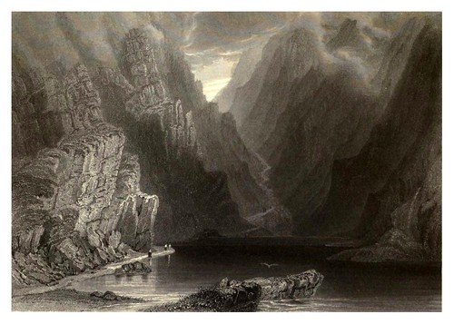 014-La garganta de Dunloe-The scenery and antiquities of Ireland -Vol II-1842-W. H. Bartlett