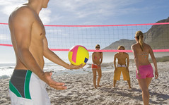 Volleyball class at Ipanema's beach