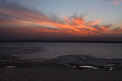 sunset and salt  @ Dead Sea-Jordan (Ghadeer Q) Tags: travel sunset seascape salt middleeast jordan deadsea slowshutterspeed canon1740 kingdomofjordan     inthewaybackfrompetra