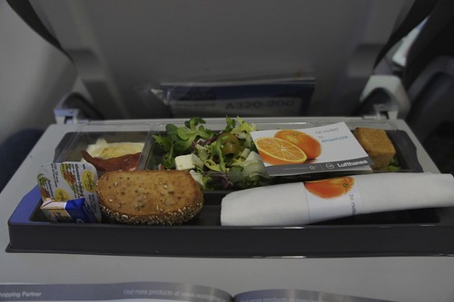 Frankfurt-Munich, Lufthansa Business class - meal