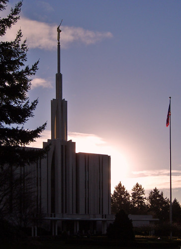Sunrise at Bellevue LDS Temple - Bellevue WA