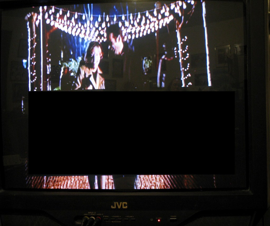 Help! How do I Get Rid of this Black Rectangle on My Television Set?