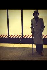 IMG_5395 (john fullard) Tags: urban newyork station cane underground subway manhattan platform commuter camerabag iphone hipstamatic