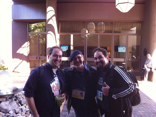We are getting @acarvin to grow a goatee this week @TEDActive Part of the family w @joescastillo