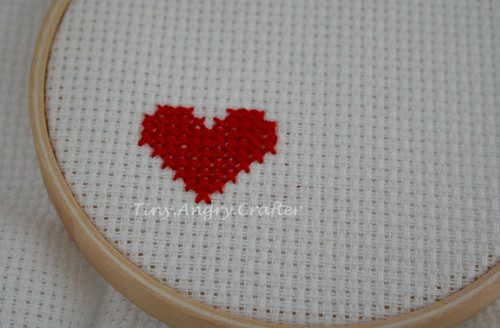 cross-stitch heart