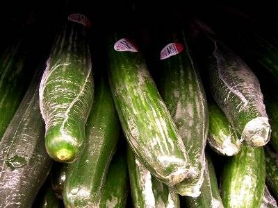 shrink wrapped cucumber