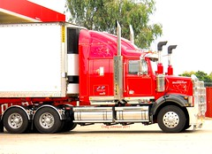 photo by secret squirrel (secret squirrel6) Tags: sleeping red beautiful lunch star amazing waiting diesel photos profile transport clean truckstop parked trailer fuel trucking stopped scrolls westernstar bullbar avenel ruralaustralia humehighway alcoas refridgerated maxicube roundtanks bogiedrive secretsquirreltrucks