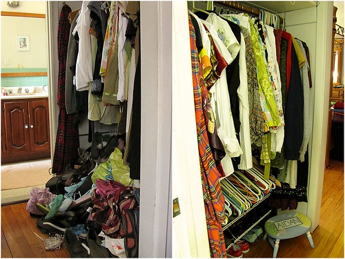 Project Simplify week 1 - Closet before and after