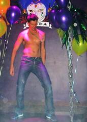 Mardi Gras 015 (danimaniacs) Tags: shirtless man hot cute sexy male guy pecs nipple bare chest hunk dancer silverlake mjs mardigras chicosangels