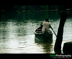Life is a journey... unknown journey... (Sanil Photography) Tags: life people india man water river boat ride kerala journey boatride sanil colorphotoaward myfocuz sanilphotography linsaworld