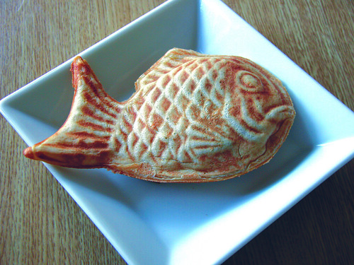 Taiyaki on a plate