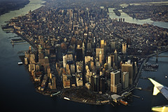 the isle of manhattan (friskypics) Tags: nyc skyline airplane cityscape manhattan batterypark lga lowermanhattan friskypics