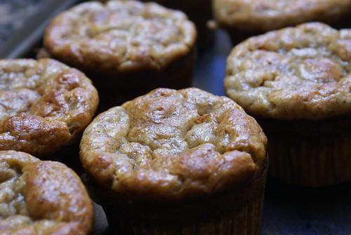 moist banana muff-cakes.