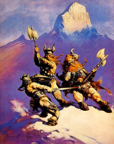 Frank Frazetta's full painting for Conan of Cimmeria