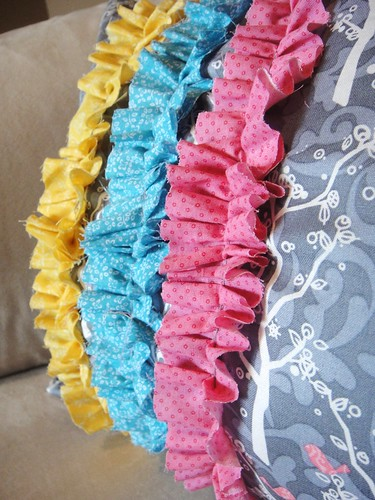 Ruffles on pillow